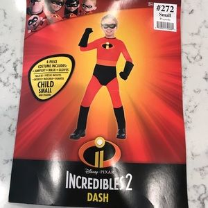 Incredibles Dash costume, size 4-6